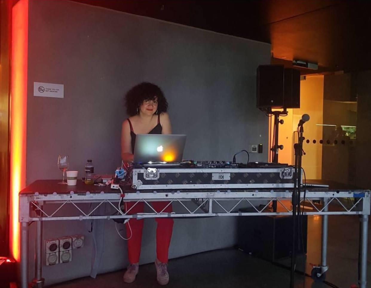 <p>DJing as part of ARTBAR curated by Caroline Garcia, 2017, the Museum of Contemporary Art Australia.<BR>Photo: Del Lumanta.</p>