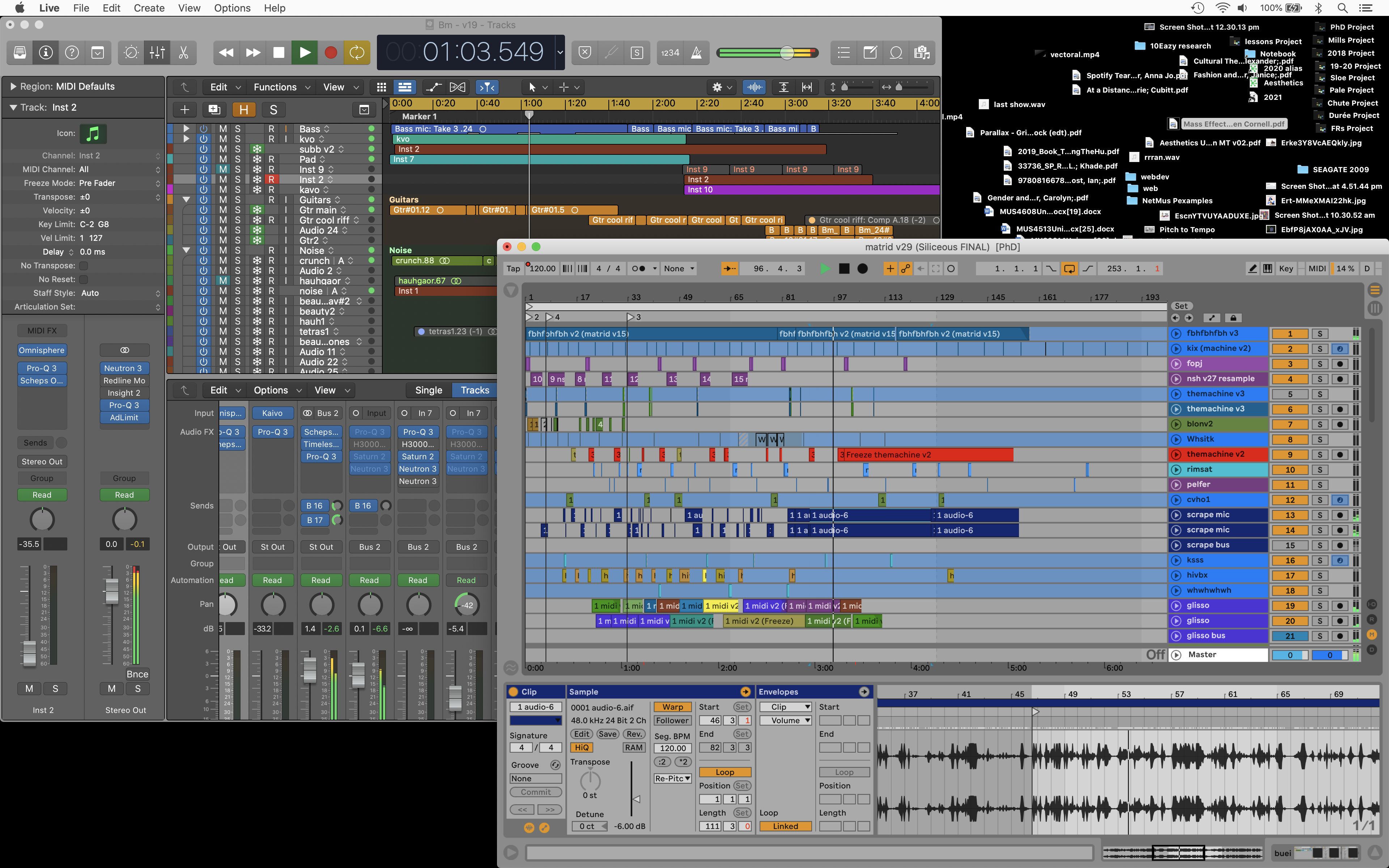 <p>Screenshot by the author of the DAWs Logic Pro and Ableton Live.</p>